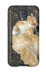 Galaxy S5 HxArzfu2067KYjks Cat Tpu Silicone Gel Case Cover. Fits Galaxy S5