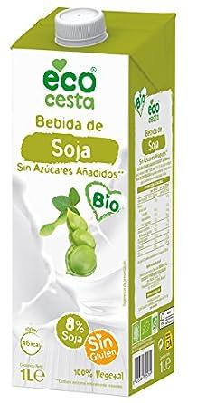 Ecocesta bebida vegetal de soja sin azúcar Bio 1L: Amazon.es: Alimentación y bebidas