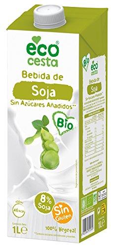 Ecocesta bebida vegetal de soja sin azúcar Bio 1L: Amazon.es ...