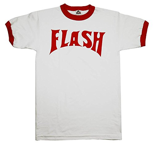 Flash Gordon Flash Bolt Ringer Adult White T-Shirt M