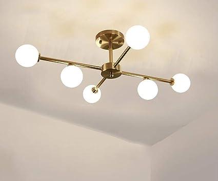 Lampada da soffitto a led in vetro nordico lampadario a fagiolo