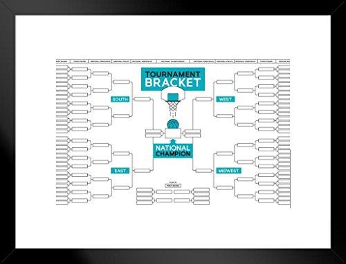 Basketball Tournament Bracket Wall Chart Framed Poster