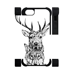 Canting_Good,Deer, Custom Dual-Protective 3D Polymer Case for IPhone 5