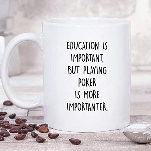 Mr.Fixed - Funny Gambling Coffee Mug, Poker Player Gift, Education Is Important, 11oz Ceramic Coffee Mug, Unique Gift