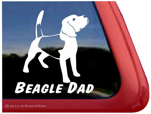 Beagle Dog Sticker - Beagle Dad ~ Dog Vinyl Window Auto Decal Sticker