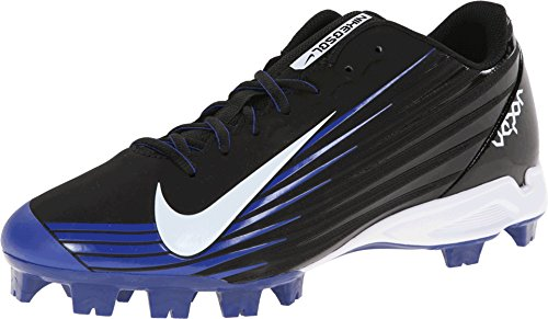 Nike Men's Vapor Strike 2 Baseball Cleat Black/Rush Blue/White Size 7 M US