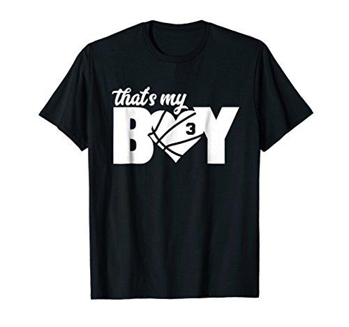 That's My Boy #3 T-Shirt Basketball Mom Basketball Dad Tee
