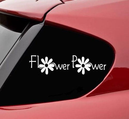 Flower Power Vinyl Decal Sticker