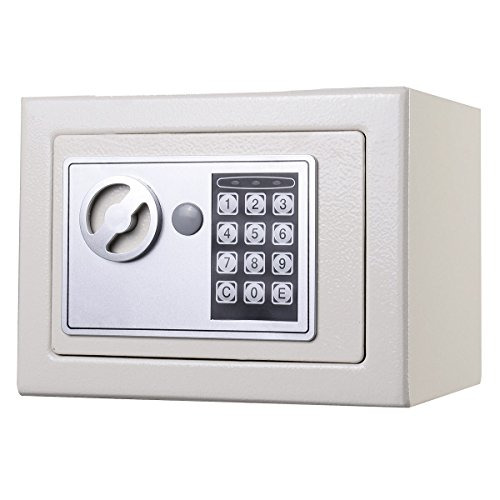 Small White Digital Electronic Safe Box Keypad Lock Home Office Hotel Gun