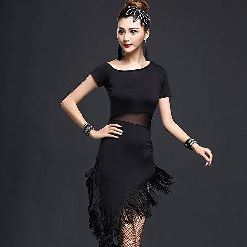 17438b38f5cf Da Ballo Clothing Black AdultiNappe A CorteAdatto Zddab Women s Per  ScesaRumba TeatraliNazionale Abito Sexy Spallina Competizioni ...