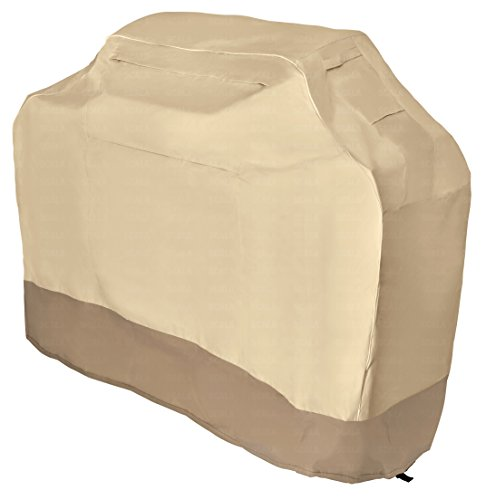 LiBa BBQ Grill Cover 58in for Weber, Char Broil, & More - Heavy Duty 600 Denier Fabric w/ 36 Month Warranty Against Rips or Tears.