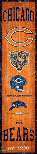 Fan Creations Chicago Bears Heritage Banner Wood Sign 6