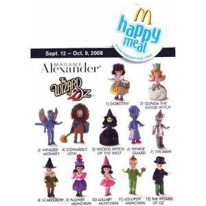 2008 Mcdonalds Madame Alexander Wizard of Oz Dolls Set Of 12 ()