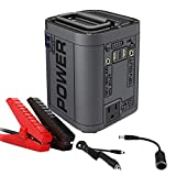 Lukasa 100-Watt Portable Generator Power Station, 600A Peak 26800mAh Car Emergency Jump Starter, CPAP Battery Pack, Home Camping Emergency Power Supply Charged by Solar Panel/Wall Outlet/Car