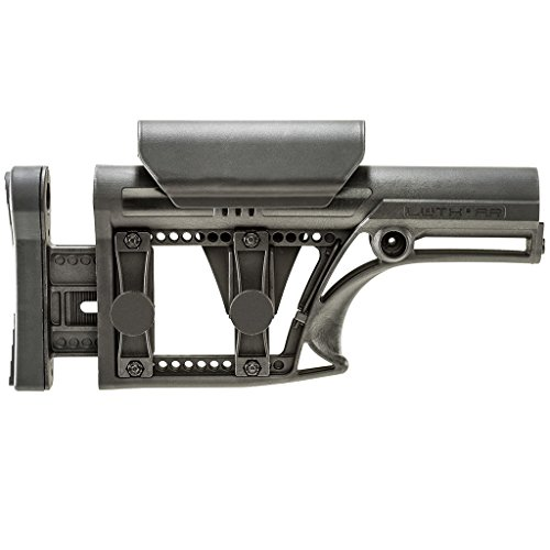 LUTH MBA-1 Precision Rifle Stock for Long Range Shooting or Hunting (BLACK)