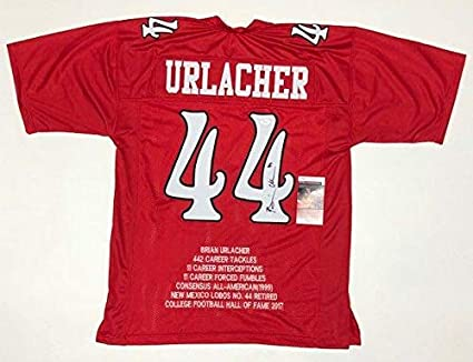best service ffb40 09df4 Brian Urlacher Autographed Jersey - COLLEGE STAT w WITNESSED ...