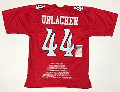 best service c34a2 f2efe Brian Urlacher Autographed Jersey - COLLEGE STAT w WITNESSED ...