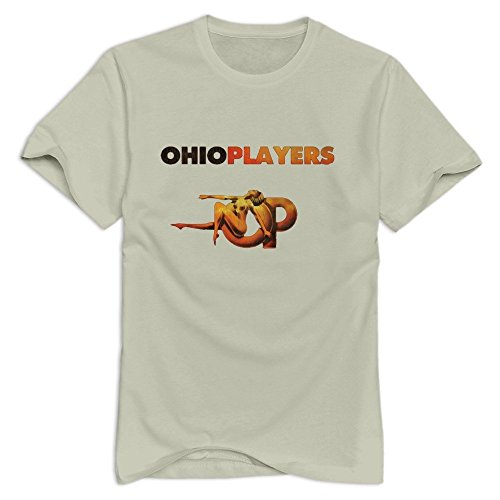TWSY Men's Ohio Players T-Shirt Natural US Size L,100% Organic Cotton