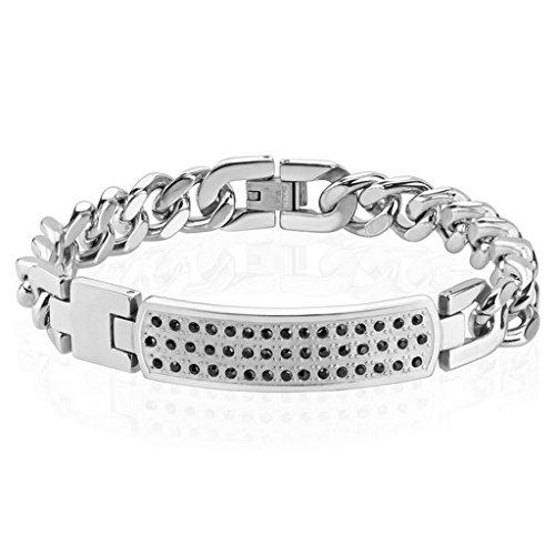 Bracelet CZ en acier inoxydable 316L pour femme