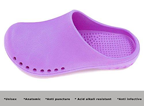 Unisex Anti Slip Slipper Sandale Rutschfeste Hausschuhe Labor Operationssaal Arbeitsschuhe für Ärzte Krankenschwestern X0004 Violett