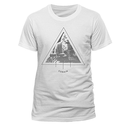 Kurt Cobain Herren T-Shirt- Triangle Photo Weiß