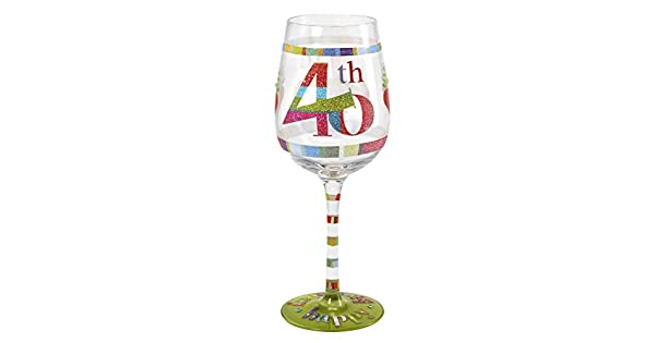 Amazon.com: Here s To You copa de vino – 40th cumpleaños ...