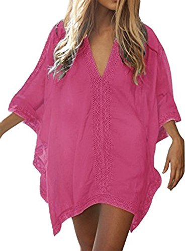 Solid Bathing Oversized Suit Up Dress Beach Cover Womens Walant Swimsuit Pink Beach w5076OEnq