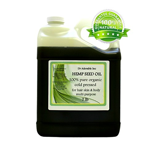 Hemp-Seed-Oil-Pure-Organic-Cold-Pressed-by-DrAdorable-128-fl-oz1-Gallon7-Lb