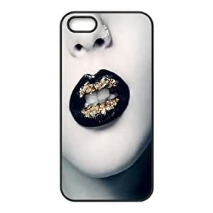 Iphone 5,5S Lips Phone Back Case Personalized Art Print Design Hard Shell Protection MN051127