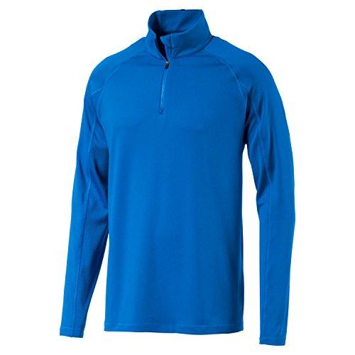 (Puma Golf 2017 Men's 1/4 Zip Popover Jacket, Electric Blue Lemonade, Large)