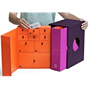 Baby Keepsake Box - Newborn Keepsake Gift – Pregnancy Gift – Baby Shower Gift - Memory Box- Personalized - Handmade & Acid-Free for Durability – Fits with Décor + Memento Organizer System - Slate