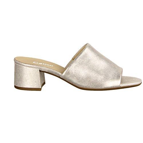 Gabor Comfort Damen Pantoletten 82910 61 Silber grau