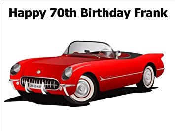 10 X 7 5 Vintage 1953 Corvette Sports Car Edible Image Cake