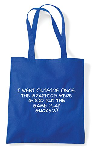 Outside But Sucked Shopper Once The Were Statement Royal Graphics I Tote Good Life Blue Funny Gamer Gaming Went Play Game Real Bag q0CvHwx5