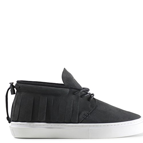 Mens Clear Weather The One-O-One Black Nubuck 8 Low-Top Sneakers CRW-101-BLK