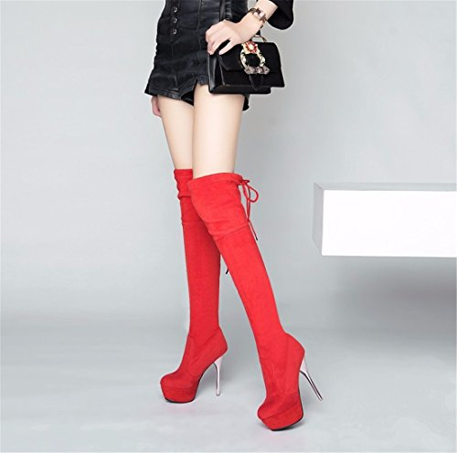 winter gules heeled fine boots canister high with Lady Our high knee of long autumn and AwnxSIn4qB