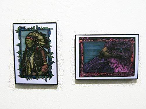 Set of Two Modern Native American Graffiti Art Poster Print, 5x7