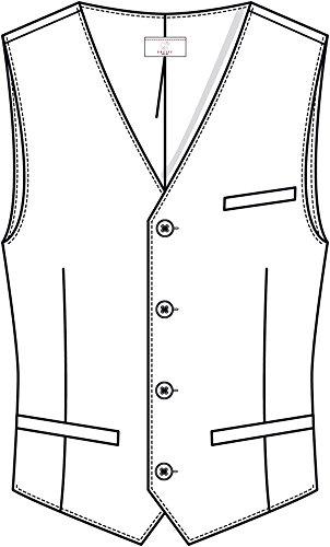 Gilet Greiff Uomo Completo Normale Qualità Nero Vestibilità Panciotto Eccellente Da vdqrHdSU