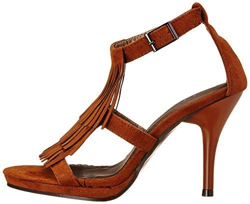 Brown Fringe High Heel Adult Shoes - Clearance Sizes Q3eqhN