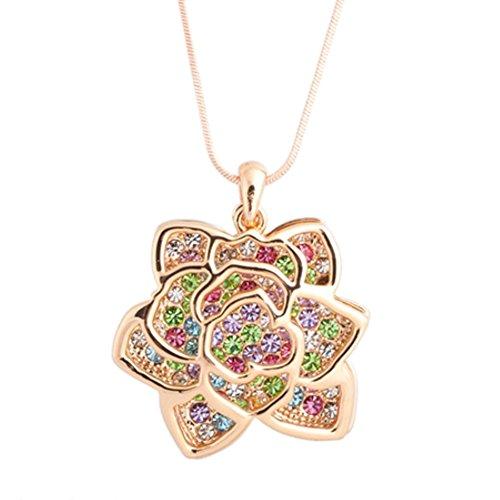 NL-07081C1 Fashion Alloy Fashion Geometric Inlaid Crystal Women Necklace