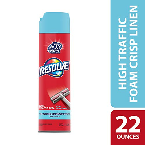 Resolve High Traffic Carpet Foam, Crisp Linen 22 oz Can, Cleans Freshens Softens & Removes Stains