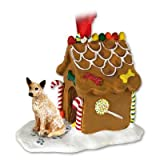 Red Heeler AUSTRALIAN CATTLE Dog NEW Resin GINGERBREAD HOUSE Christmas Ornament 87A by Eyedeal Figurines