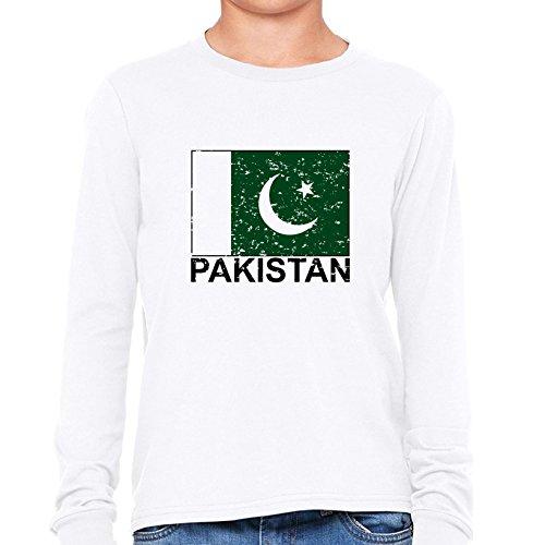 Pakistan Flag - Special Vintage Edition Girl's Long Sleev...