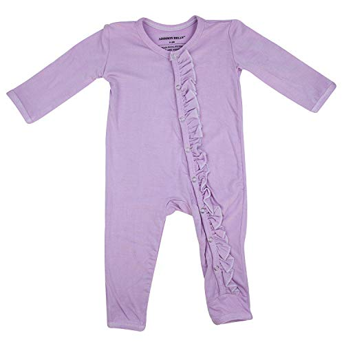 ADDISON BELLE Premium Knit One Piece Baby Romper Ultra Soft & Breathable - 0-3 Month Size (Lavender)