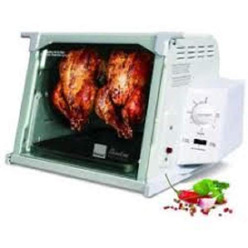 Ronco Showtime Rotisserie and BBQ 4000 Series, White (Set It Forget And Rotisserie)