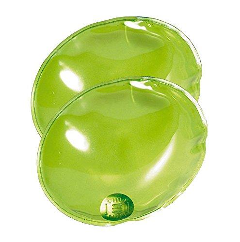 2 x Reusable Gel Hand Warmers - Instant Heating Heat Packs (Green)
