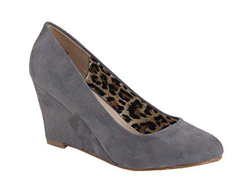 Mid Shoes Marie Slip Wedge On Bella Grey Almond Classic Nine Pump Womens 5 Toe 6fw0qB
