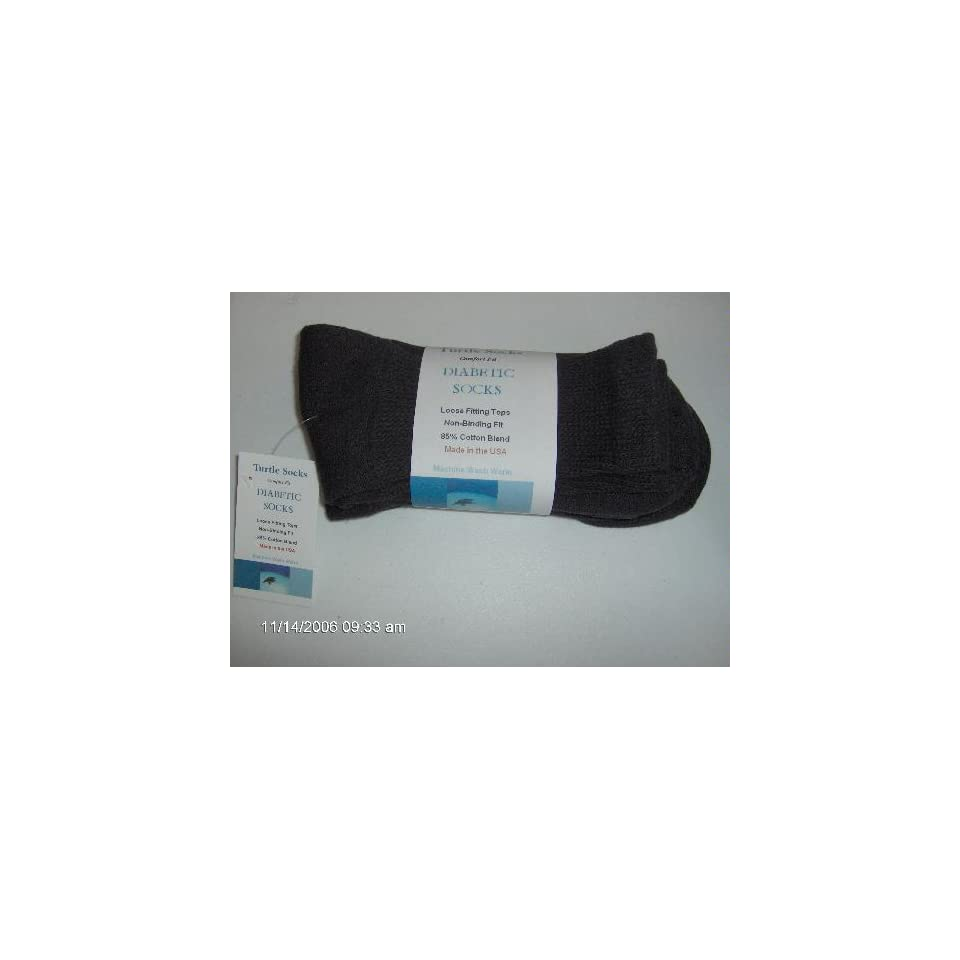 Pairs   Diabetic Socks for MEN with Shoe Size 7 Thru 11 By Turtle