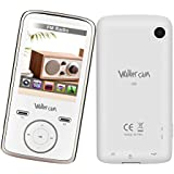 Walkercam M5 MP3 MP4 Player with FM Radio, Voice Recorder, Video, E-book and Camera, Good for Language Learning, USB Charging (White)