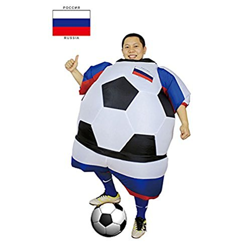 Inflatable Football Costume Player Halloween Costume for Men Women Adults Soccer Costume Party (Halloween Female Football Player Costume)